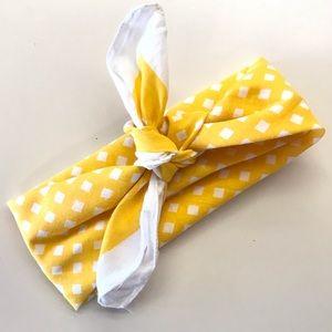 Accessories - Yellow gingham neck scarf / ascot / headband
